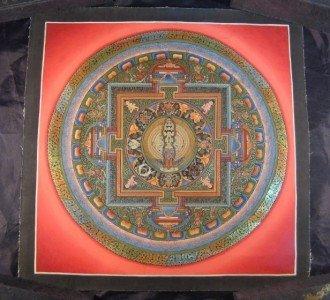24 K Gold  Avalokitesvara Deity Thangka Thanka Painting Nepal Himalayan Art A4
