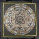 small 24 K Gold Ohm Mandala Thangka Thanka painting Nepal Himalayan Art A4