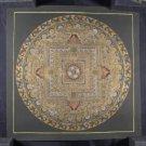 24 K Gold Ohm Mandala Thangka Thanka painting Nepal Himalayan Art A6