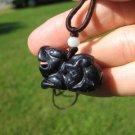 Black Goldstone Jasper stone Pendant Chinese Dragon pendant necklace ornament