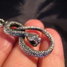 925 Silver snake Pendant Thailand jewelry art A