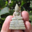 Natural Jade Shakyamuni Buddha stone rock mineral Carving Art A8