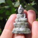 Natural Jade Shakyamuni Buddha stone rock mineral Carving Art A7