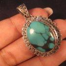 925 Tibetan Silver Turquoise Jewelry Art In Nepal A