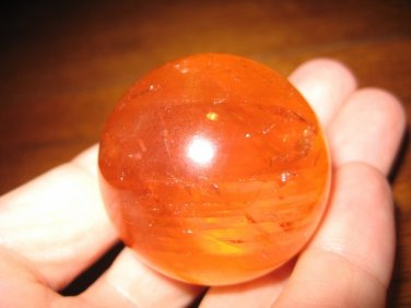 Natural calcite quartz crystal ball carving mineral stone art A26