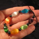Cats Eye Crystal Bracelet Mineral stone Jewelry A