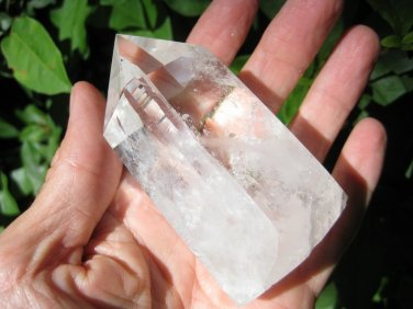 Natural Quartz Crystal point Mineral stone art carving statue China A3