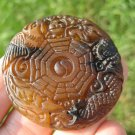 Natural Nephrite Jade Chinese Calendar dragon pendant amulet A25