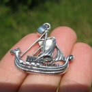 925 silver celtic viking ship pendant necklace thailand jewelry art