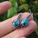 925 Silver Tibetan Turquoise Earrings Earring jewelry Nepal himalayan art A5