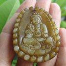 Natural Jade Kuan Yin Guan Yin Pendant Amulet talisman stone carving A5