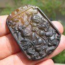 Natural Nephrite Jade Carnelian Agate people amulet China
