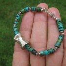 Natural Tibetan Turquoise stone bracelet Thailand jewelry art