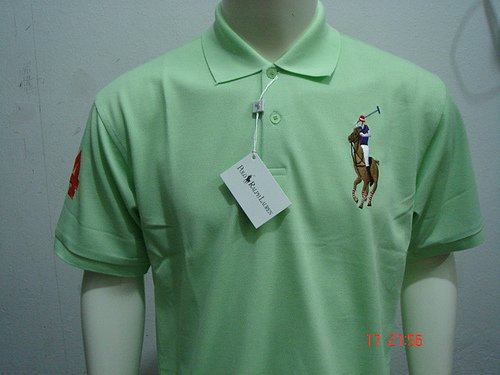 mint green Ralph Lauren Polo shirt with big pony-T62