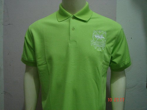 Lime green Ralph Lauren Polo shirt with big pony-T47