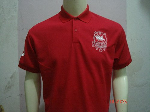 Red Ralph Lauren Polo shirt with big pony-T42