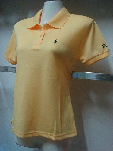 Womens yellow Ralph Lauren Polo shirt -T26