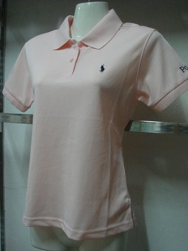 Womens Pink Ralph Lauren Polo shirt -T21