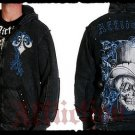 Mens Black Affliction Hoody- H14