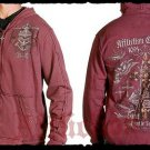 Mens Red Affliction Hoody- H12