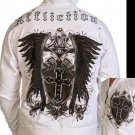 Mens White Affliction Hoody- H08