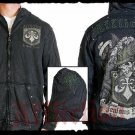 Mens Black Affliction Hoody- H07