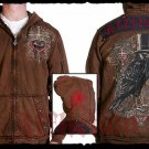 Mens Brown Affliction Hoody- H05