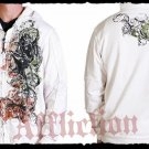 Mens White Affliction Hoody- H04