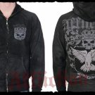 Mens Black Affliction Hoody- H03