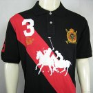 Mens Black and Red Ralph Lauren Polo shirt with embroided 3