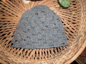Charcoal fishnet toboggan