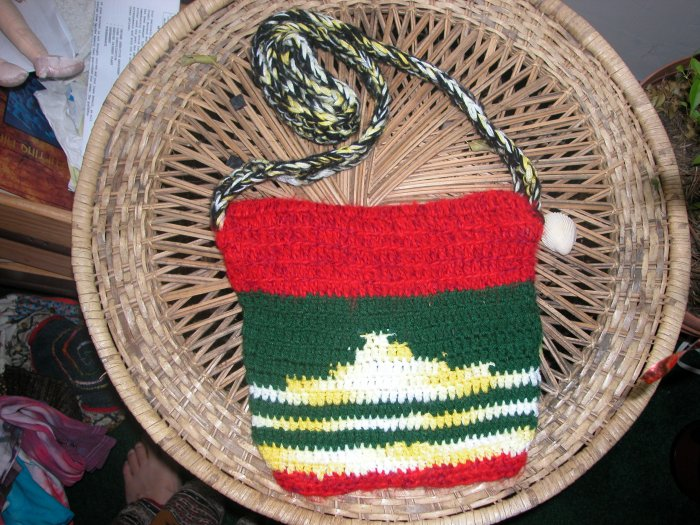 Crochet rasta bag