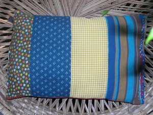 infant patchwork pillow