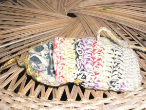 fabric lined hemp tote sack