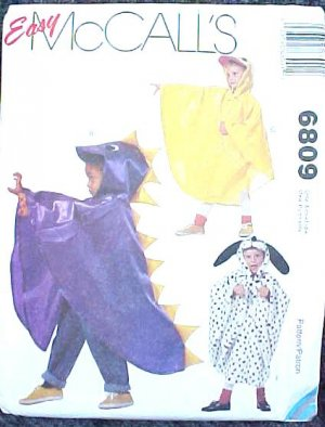 Toddlers animal Costume Sewing Pattern 2506 Simplicity