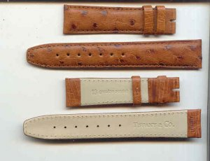 18MM TIFFANY & CO. TAN OSTRICH WATCH BAND