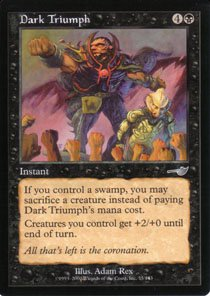 Magic the Gathering Nemesis Dark Triumph NM/Mint