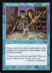 Magic the Gathering Nemesis Accumulated Knowledge NM/Mint