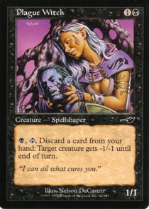 Magic the Gathering Nemesis Plague Witch NM/Mint