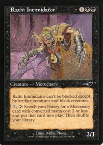 Magic the Gathering Nemesis Rathi Intimidator NM/Mint