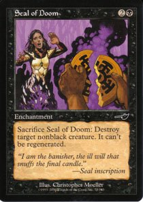 Magic the Gathering Nesesis Seal of Doom NM/Mint