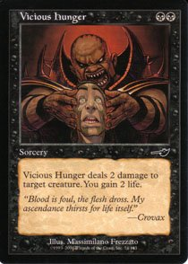 Magic the Gathering Nemesis Vicious Hunger NM/Mint