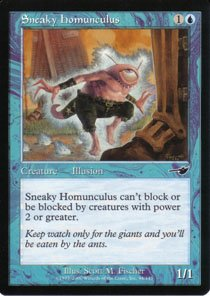 Magic the Gathering Nemesis Sneaky Homunculus NM/Mint