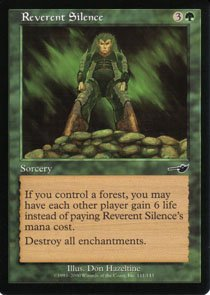 Magic the Gathering Nemesis Reverent Silence NM/Mint