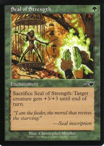 Magic the Gathering Nemesis Seal of Strength NM/Mint