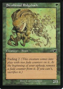 Magic the Gathering Nemesis Skyshroud Ridgeback NM/Mint