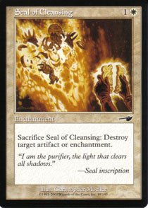 Magic the Gathering Nemesis Seal of Cleansing NM/Mint