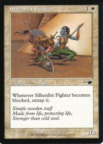 Magic the Gathering Nemesis Silkenfist Fighter NM/Mint
