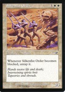 Magic the Gathering Nemesis Silkenfist Order NM/Mint