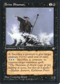 Magic the Gathering Ice Age Brine Shaman NM/Mint